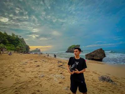Foto indah di Pantai