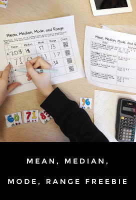 Looking for fun activities to teach mean, median, mode, and range? Students cut out each set of numbers, place in order, and then find the MMM&R. Makes a great, easy math center for your classroom and kids have the option of checking their work by scanning the QR codes with an iPad.