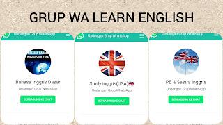 Grup whatsapp belajar bahasa inggris