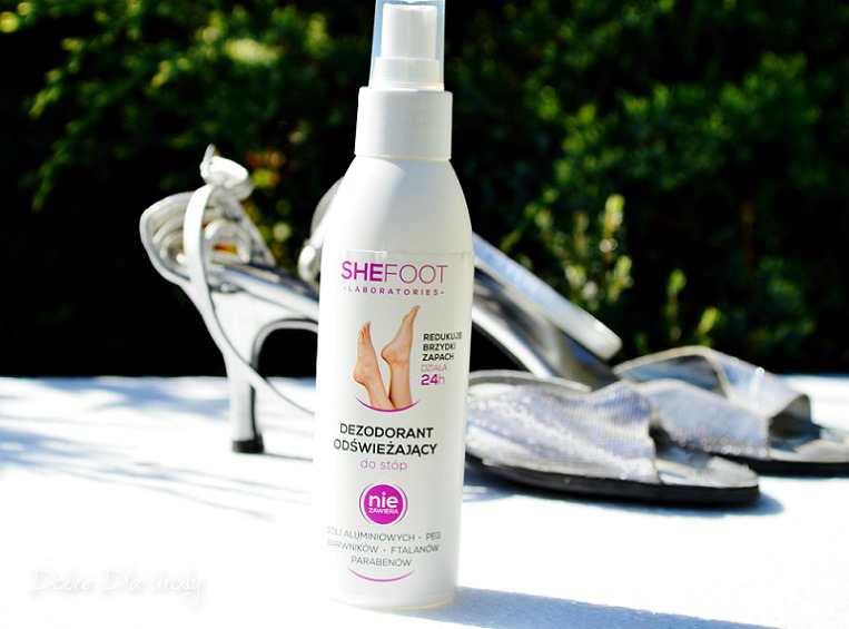 SheFoot kosmetyki do pielęgnacji stóp - dezodorant odświeżający