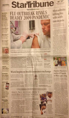 Star Tribune front page