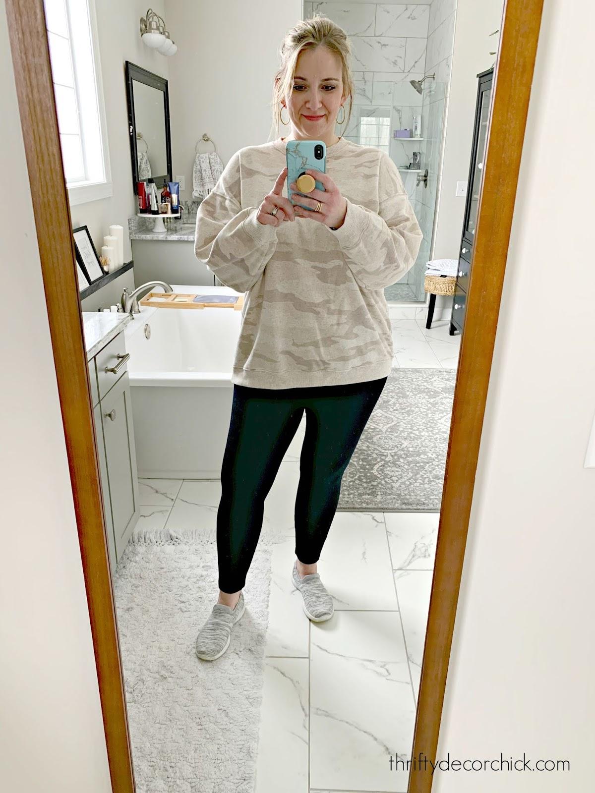 oversized sweatshirt camo