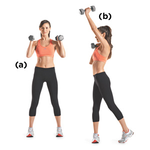 Lose Arm Fat with Arm Press with a Twist