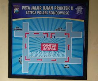 Peta Jalur Ujian Praktek SIM 2