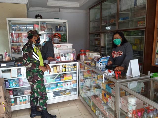 Cegah Covid-19, Personel Jajaran Kodim 0207/Simalungun Laksanakan Gakplin Diwilayah Binaan
