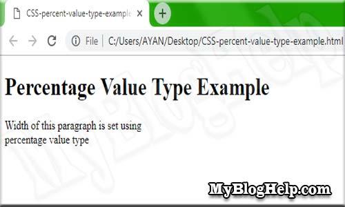 CSS percent value type