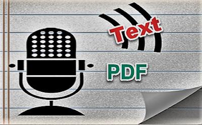 طرق قراءة ملفات PDF و النصوص بالصوت للكمبيوتر