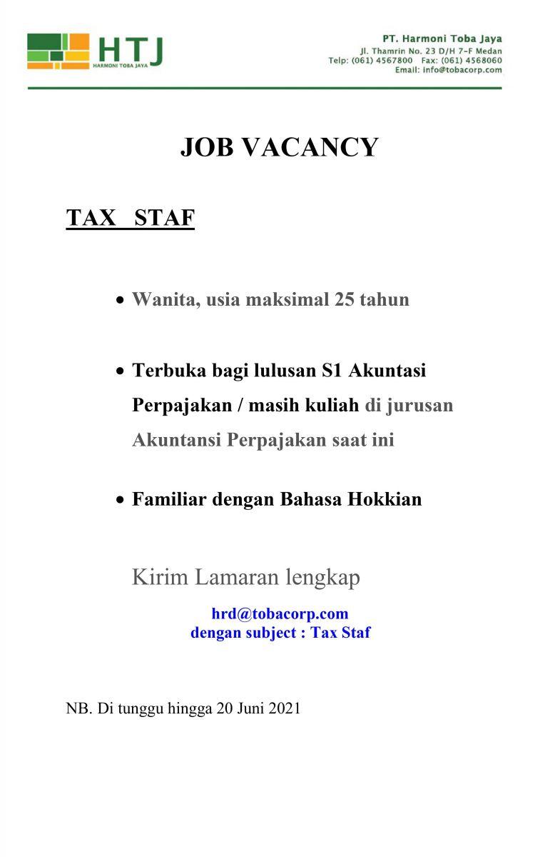 Lowongan Kerja Medan Juni 2021 Di Pt Harmoni Toba Jaya Htj Lowongan Kerja Medan Terbaru Tahun 2021