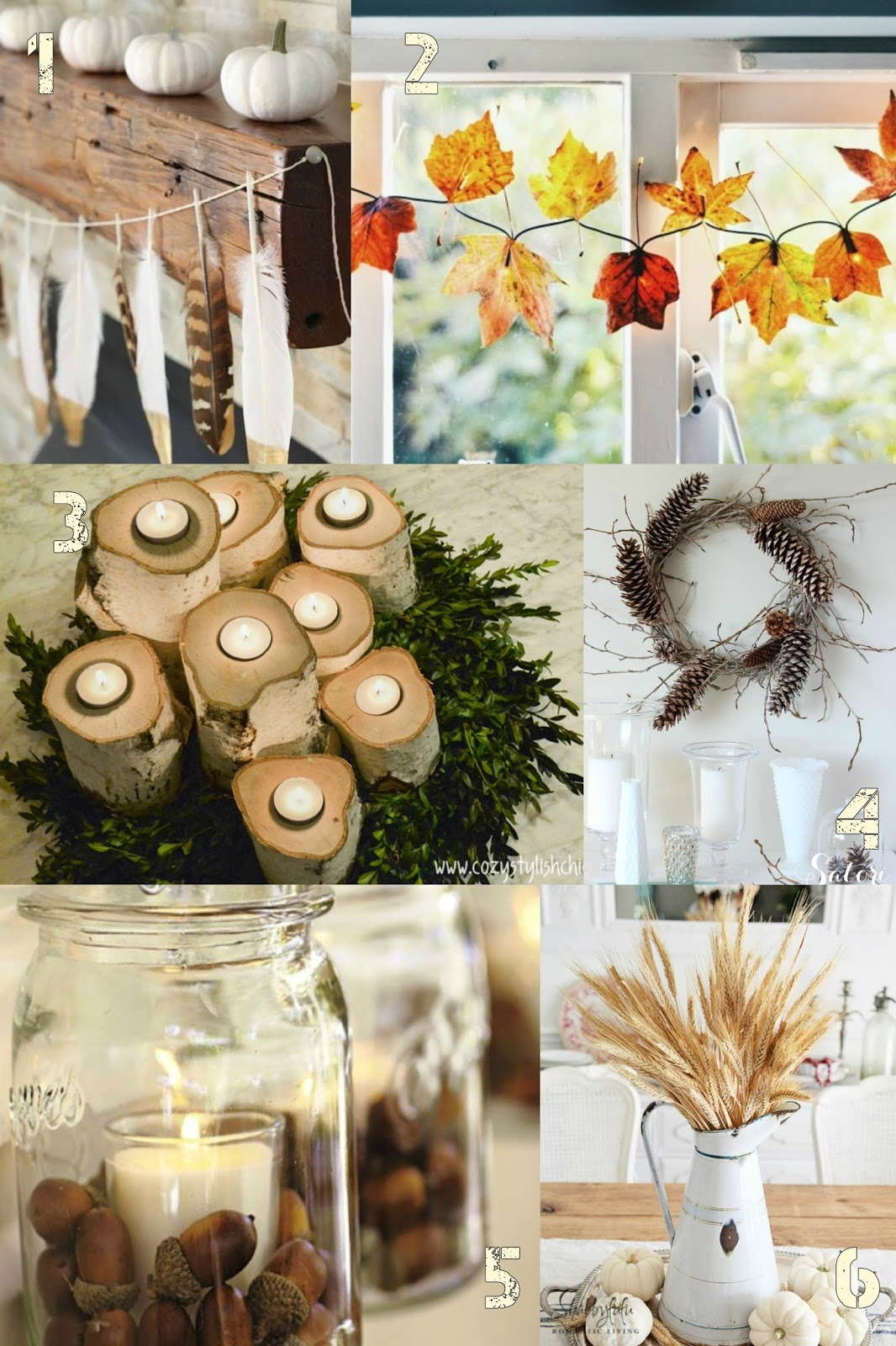 Using Nature to Decorate Your Home - Little Vintage Cottage