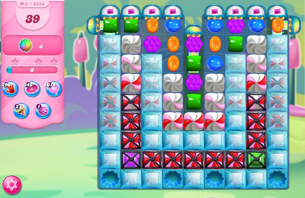 Candy Crush Saga level 8558