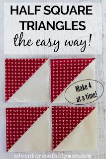 image of 4 half square triangles