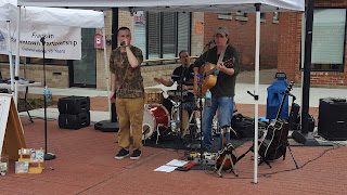 Jesse Liam band rocked it on the crosswalk attracting dancers and sing along
