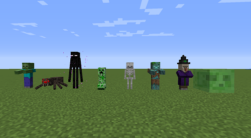 Các loài mob giống như thuần hóa chỉ trong Minecraft