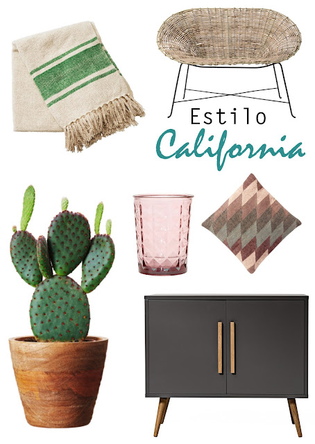 estilo californiano, desertico, mimbre, nopal, cactus