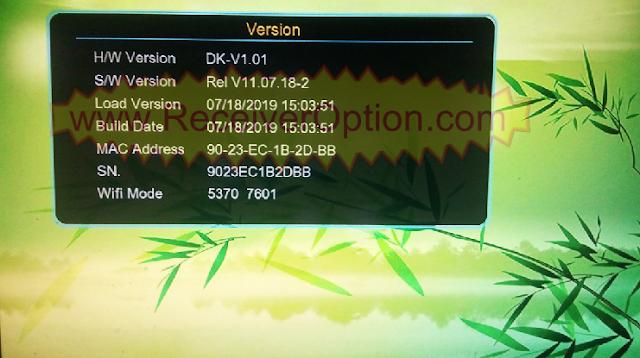 DK-V1.01 1506G 8MB HD RECEIVERS TEN SPORTS OK NEW SOFTWARE