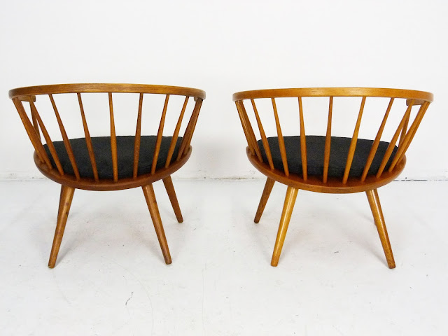 Mid-Century Pair of Arka Chairs by Yngve Ekström 6