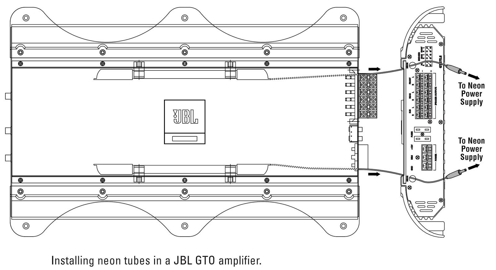 neon gto wiring diagram jbl gto301.1 - gto601.1 - gto1201.1 - installation ... 1968 pontiac gto wiring diagram