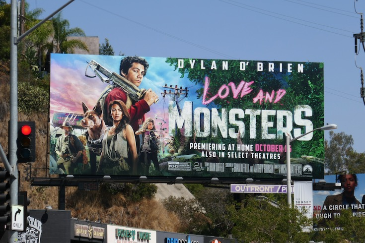 Dylan OBrien Love and Monsters billboard