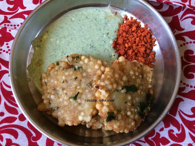Sabudana Wada-Real Deal--Deep Fried Sago Fritters!!!!