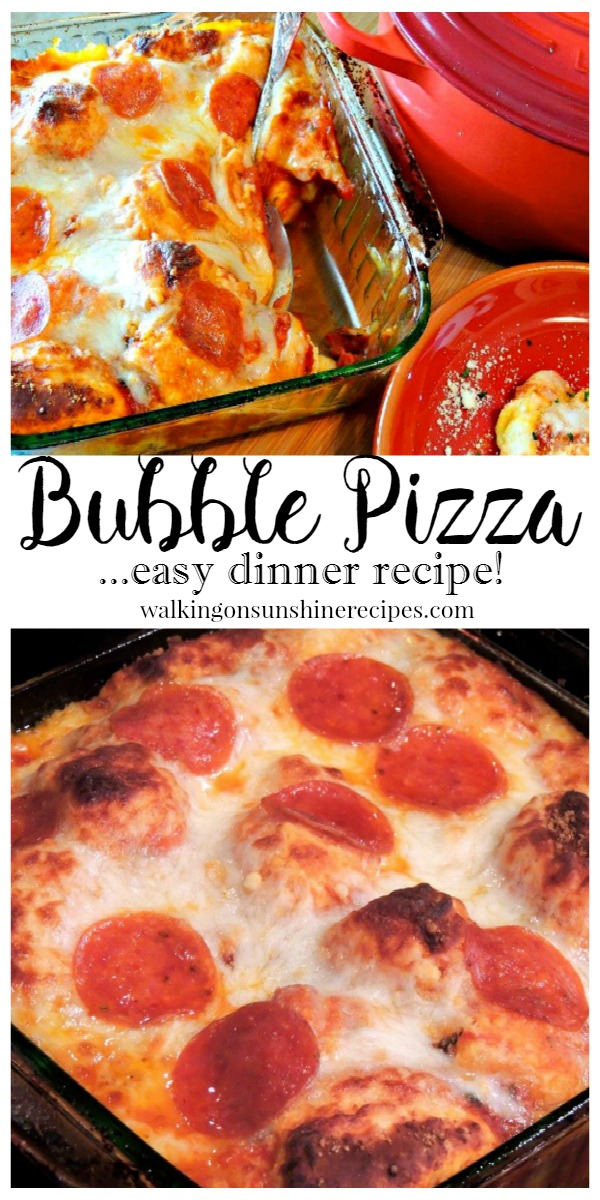 An easy and quick recipe for Bubble Pizza your whole family will love from Walking on Sunshine.
