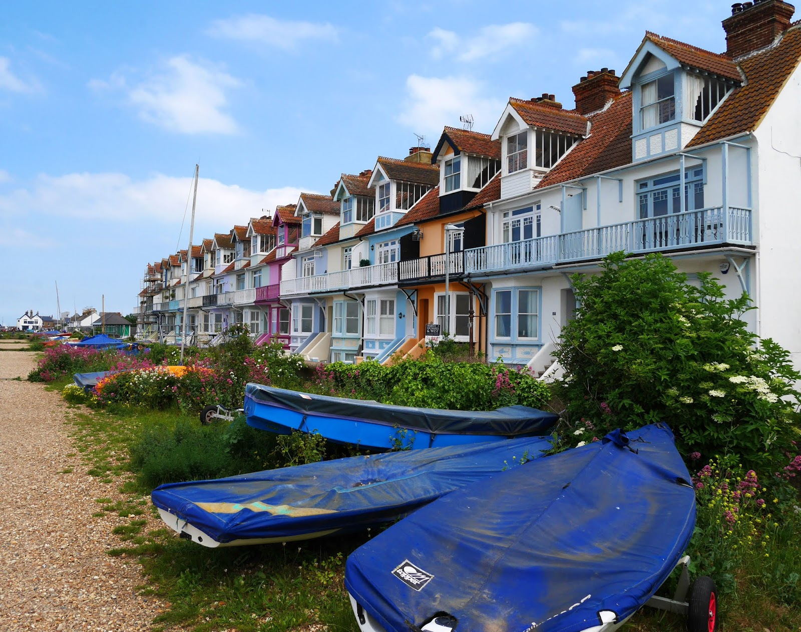 Painted houses on Whitstable seafront