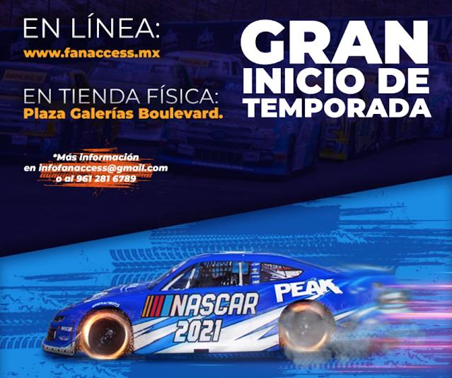 Poster informativo de NASCAR México