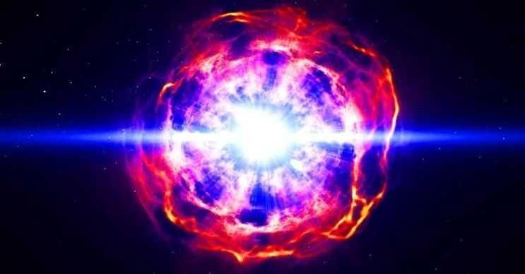Süpernova dev bir yıldızın içine doğru çökerek patlaması sonucu meydana gelir.