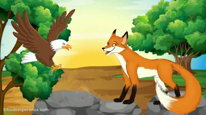 Enseñanza de la fábula del águila y la zorra