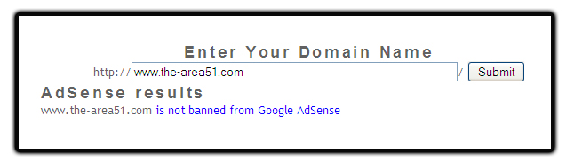 adsense not banned