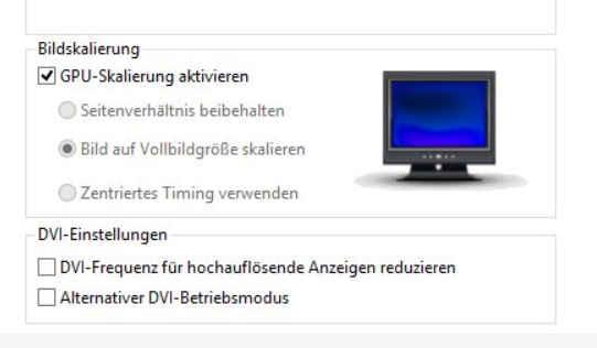 pengaturan ati radeon lainnya untuk mengatur layar tv