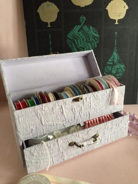 カルトナージュ教室:リボンケース
