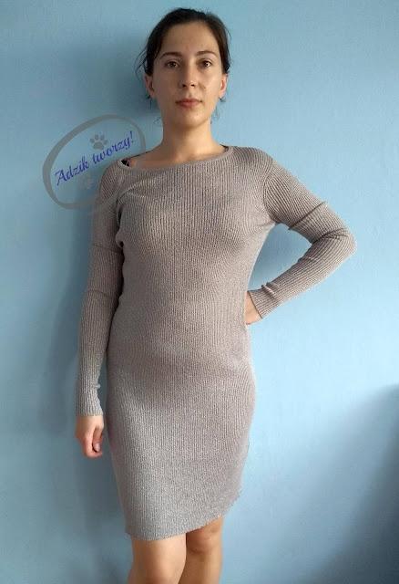 Adzik tworzy - przeróbka DIY sukienka z odkrytymi ramionami