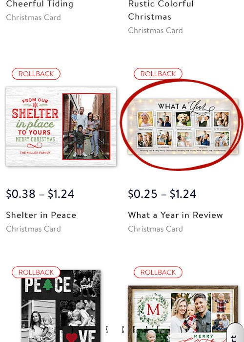 easy last minute Christmas Cards