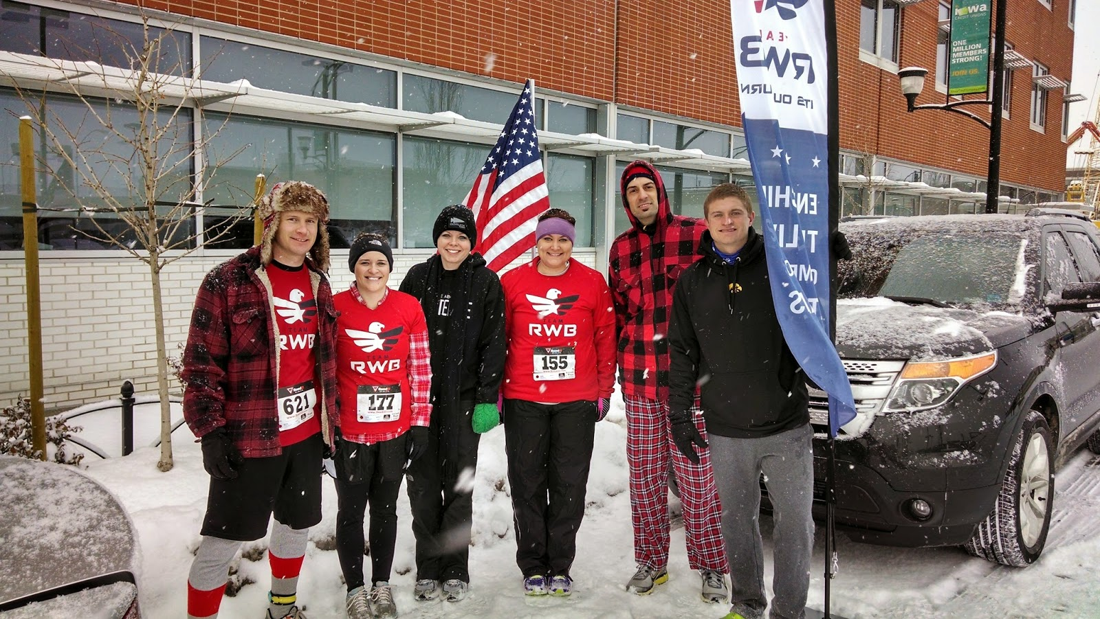 Team RWB Des Moines at the Red Flannel Run - Corn, Beans, Pigs & Kids May Comments for a Cause