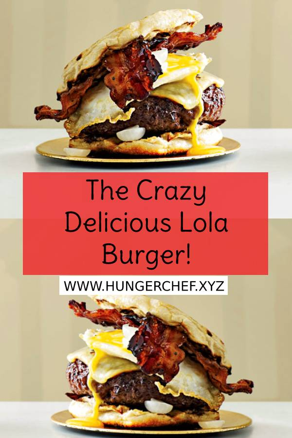 The Crazy Delicious Lola Burger! - This iteration of Michael Symon's crazy-delicious Lola burger -part hamburger, part breakfast sandwich -was adapted from his cookbook, Michael Symon's Live to Cook. #crazydelicious #crazy #crazyburger #burger #bestburger #easyburgerrecipe #bestburgerrecipe #easydinnerrecipe #recipeoftheday #breakfast #hamburger #sandwich