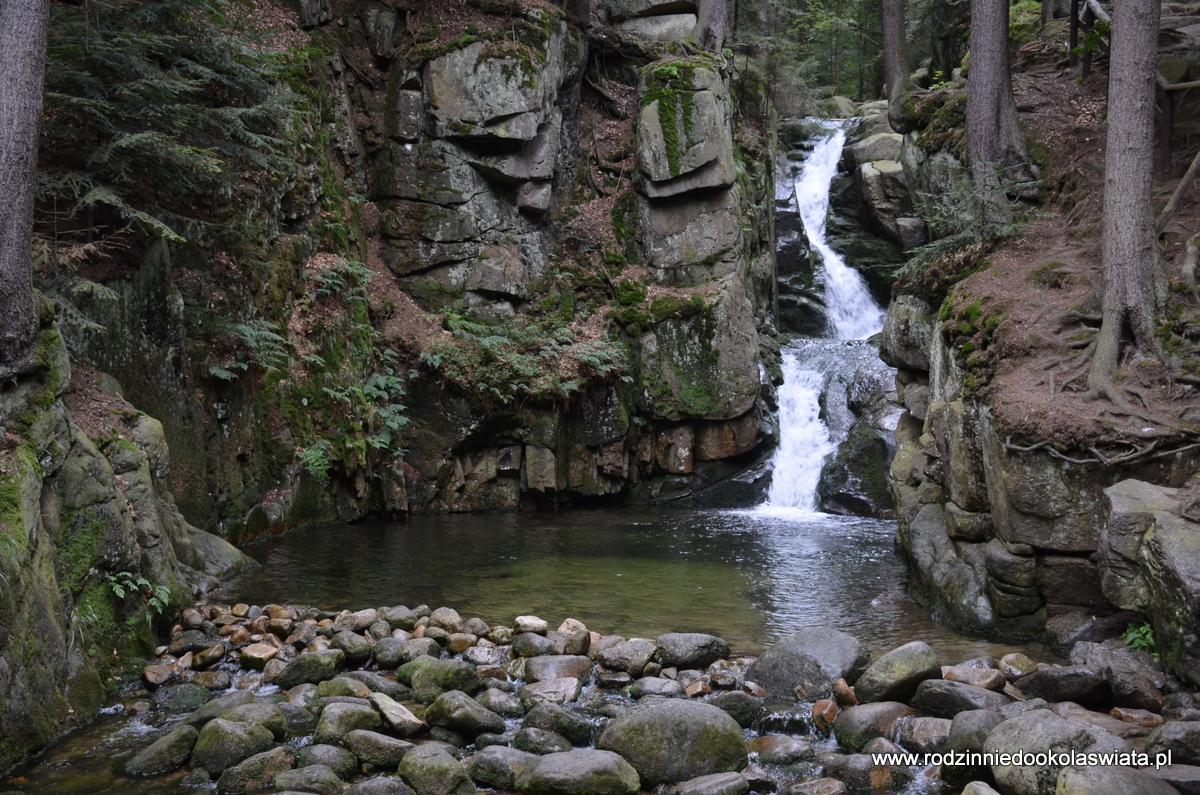 Wodospad Podgórnej w Przesiece- Karkonosze z dziećmi