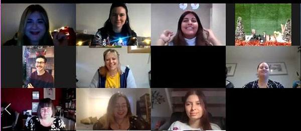 Screengrab of Zoom Meeting