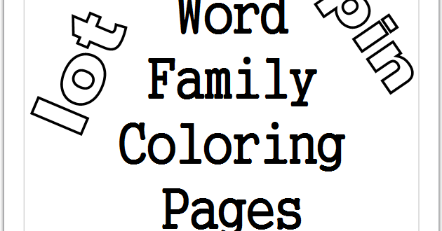 word family coloring pages