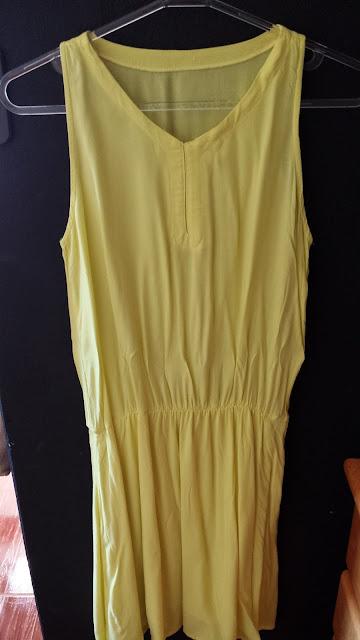 ACHADOS FARFALLA 3 # Vestido Amarelo