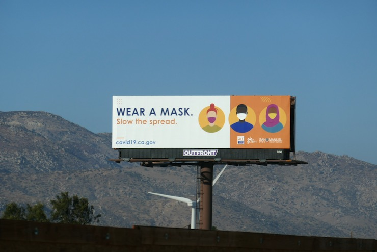 COVID19 Wear a mask billboard