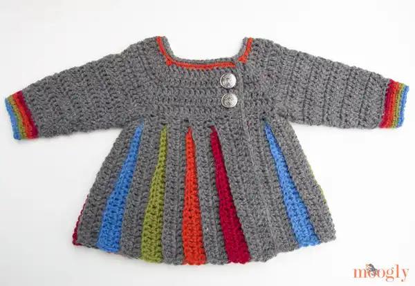Tutorial Abrigo Eloise para Bebé a Crochet Paso a Paso