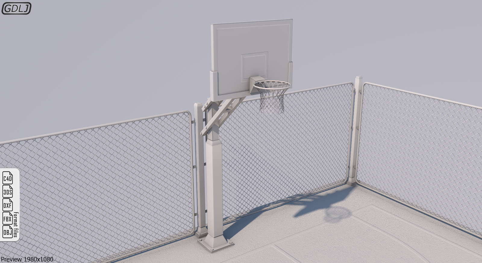 Basketball Stadium 3D Model