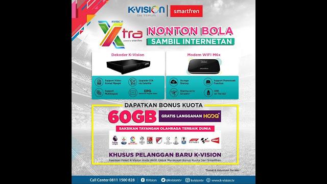 K-Vision XTra, Nonton Bola Sambil Internetan