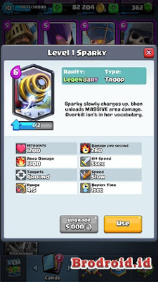Sparky Kartu Legendary Clash Royale