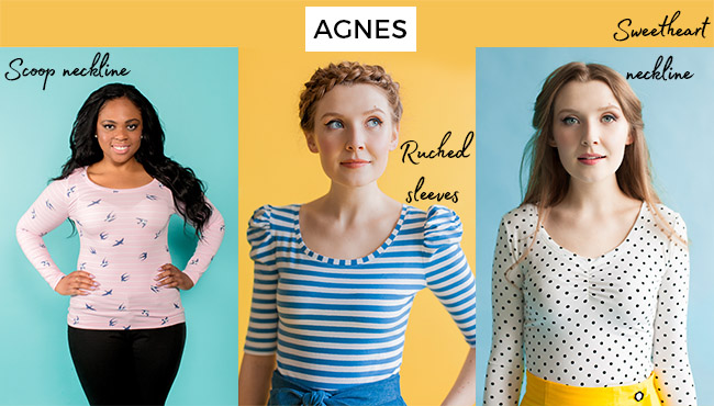 Agnes top sewing pattern
