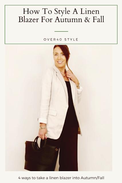 linen blazer styling