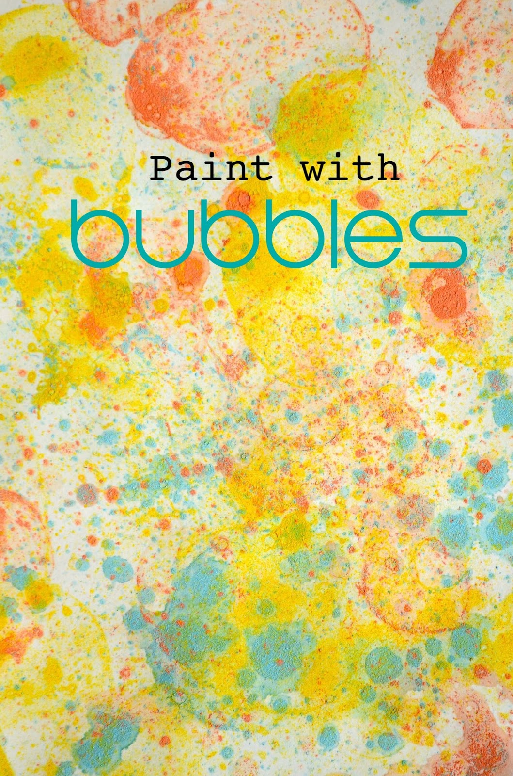 Kids Activity: Paint with Bubbles