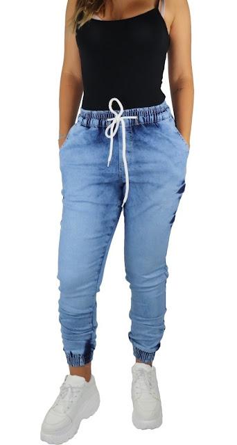 Ideias de look simples com calça jogger jeans