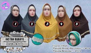 Jilbab instan pendek terbaru plus renda harga murah 25ribu saja