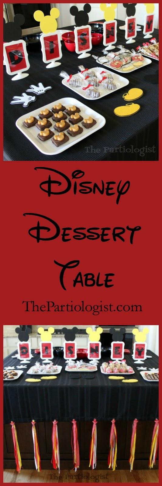 disney party desssert table